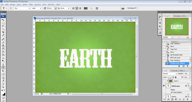 2. ketik earth.PNG